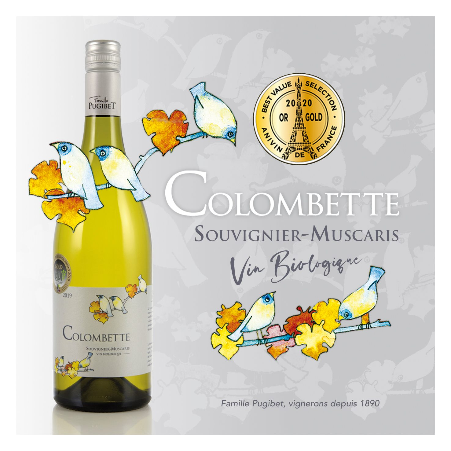 Médaille d'or au concours des vins de France