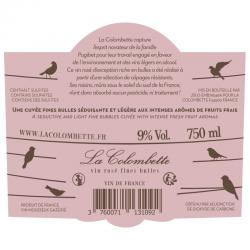 Rosé fines bulles contre-étiquette
