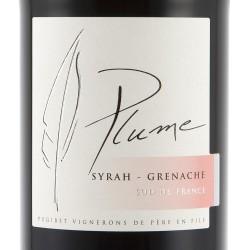 Etiquette Plume Syrah-Grenache