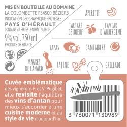 Contre-etiquette PLUME Syrah-Grenache